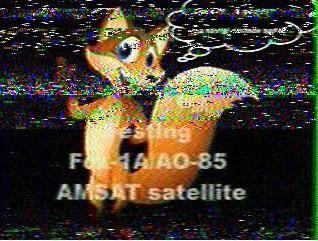AO-85 Prank SSTV