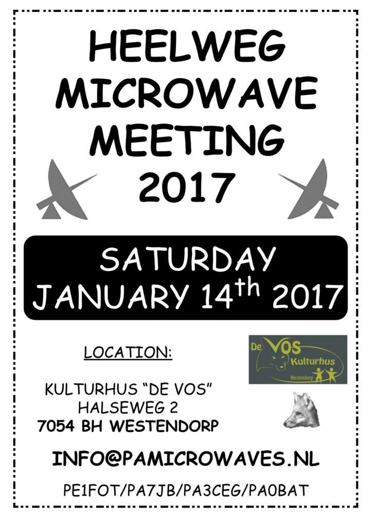 Heelweg Microwave meeting 2017 aanstaande zaterdag